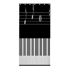 Piano Keyboard With Notes Vector Shower Curtain 36  X 72  (stall)  by Nexatart