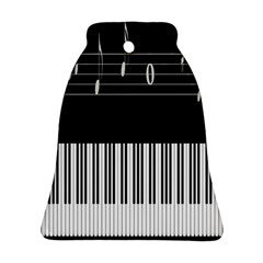 Piano Keyboard With Notes Vector Ornament (bell)