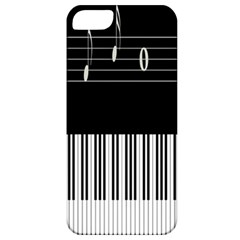 Piano Keyboard With Notes Vector Apple Iphone 5 Classic Hardshell Case