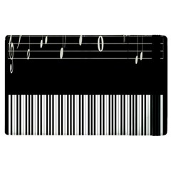 Piano Keyboard With Notes Vector Apple Ipad 3/4 Flip Case