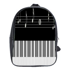 Piano Keyboard With Notes Vector School Bags (xl)