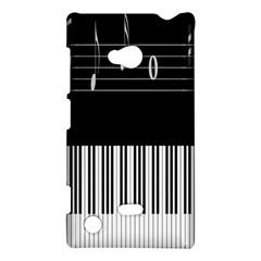 Piano Keyboard With Notes Vector Nokia Lumia 720