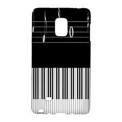Piano Keyboard With Notes Vector Galaxy Note Edge