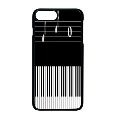 Piano Keyboard With Notes Vector Apple iPhone 7 Plus Seamless Case (Black) by Nexatart