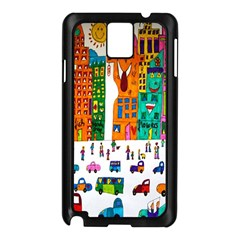 Painted Autos City Skyscrapers Samsung Galaxy Note 3 N9005 Case (black)