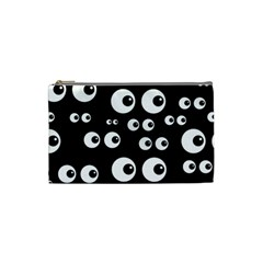 Seamless Eyes Tile Pattern Cosmetic Bag (small)
