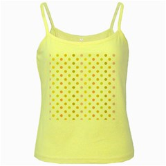Polka Dots Retro Yellow Spaghetti Tank