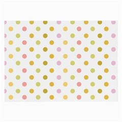 Polka Dots Retro Large Glasses Cloth (2 Side) by Nexatart