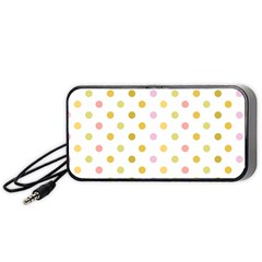 Polka Dots Retro Portable Speaker (black)