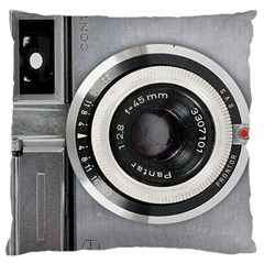 Vintage Camera Large Flano Cushion Case (two Sides) by Nexatart