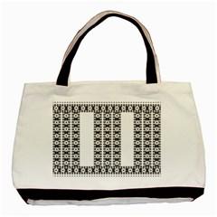 Pattern Background Texture Black Basic Tote Bag by Nexatart