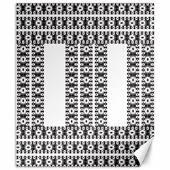 Pattern Background Texture Black Canvas 8  X 10