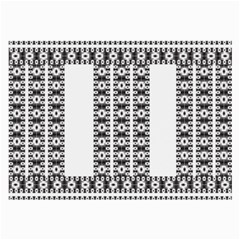 Pattern Background Texture Black Large Glasses Cloth (2 Side)