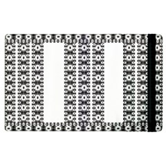 Pattern Background Texture Black Apple Ipad 3/4 Flip Case