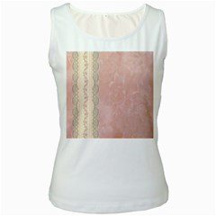 Guestbook Background Victorian Women s White Tank Top by Nexatart