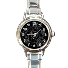 Formal Magic Circle Round Italian Charm Watch