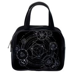 Formal Magic Circle Classic Handbags (one Side) by Nexatart