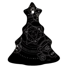 Formal Magic Circle Christmas Tree Ornament (two Sides) by Nexatart