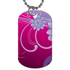 Love Flowers Dog Tag (two Sides)