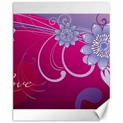 Love Flowers Canvas 16  X 20