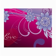 Love Flowers Small Glasses Cloth (2 Side)