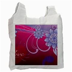Love Flowers Recycle Bag (one Side)