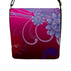 Love Flowers Flap Messenger Bag (l)