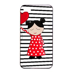 Valentines Day Girl 2 Apple Iphone 4/4s Seamless Case (black) by Valentinaart