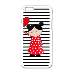 Valentines Day Girl 2 Apple Iphone 6/6s White Enamel Case by Valentinaart