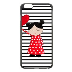 Valentines Day Girl 2 Apple Iphone 6 Plus/6s Plus Black Enamel Case by Valentinaart