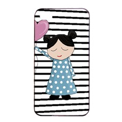 Valentines Day Design Apple Iphone 4/4s Seamless Case (black) by Valentinaart