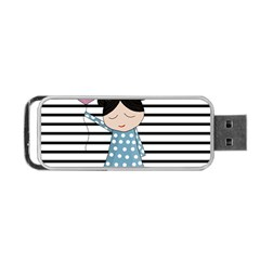 Valentines Day Design Portable Usb Flash (two Sides) by Valentinaart