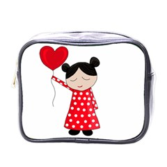 Girl In Love Mini Toiletries Bags by Valentinaart