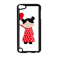 Girl In Love Apple Ipod Touch 5 Case (black) by Valentinaart