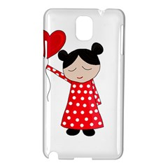 Girl In Love Samsung Galaxy Note 3 N9005 Hardshell Case by Valentinaart