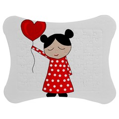 Girl In Love Jigsaw Puzzle Photo Stand (bow) by Valentinaart