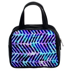 Blue Tribal Chevrons  Classic Handbags (2 Sides) by KirstenStar