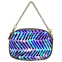 Blue Tribal Chevrons  Chain Purses (one Side)  by KirstenStar
