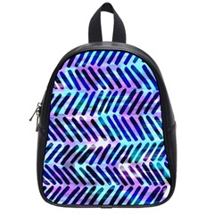 Blue Tribal Chevrons  School Bags (small)  by KirstenStar