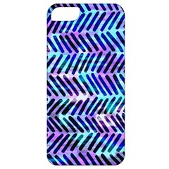 Blue Tribal Chevrons  Apple Iphone 5 Classic Hardshell Case by KirstenStar