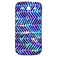 Blue Tribal Chevrons  Samsung Galaxy S3 S Iii Classic Hardshell Back Case by KirstenStar