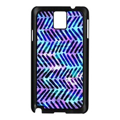 Blue Tribal Chevrons  Samsung Galaxy Note 3 N9005 Case (black) by KirstenStar