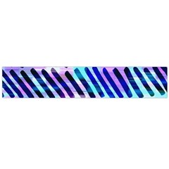 Blue Tribal Chevrons  Flano Scarf (large) by KirstenStar
