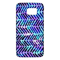 Blue Tribal Chevrons  Galaxy S6 by KirstenStar