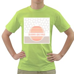 Merry Christmas Green T Shirt by Nexatart