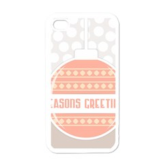 Merry Christmas Apple Iphone 4 Case (white)
