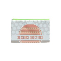 Merry Christmas Cosmetic Bag (xs) by Nexatart