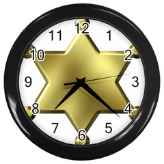 Sheriff Badge Clip Art Wall Clocks (black)