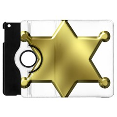 Sheriff Badge Clip Art Apple Ipad Mini Flip 360 Case