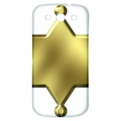 Sheriff Badge Clip Art Samsung Galaxy S3 S Iii Classic Hardshell Back Case by Nexatart